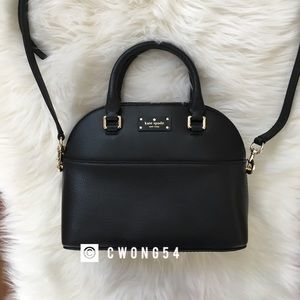 NWT Kate Spade black crossbody satchel bag